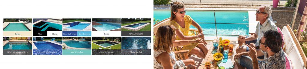 imprimé, uni, bi-couleur... C'est vous qui choisissez le liner qui habillera votre piscine Aquilus !