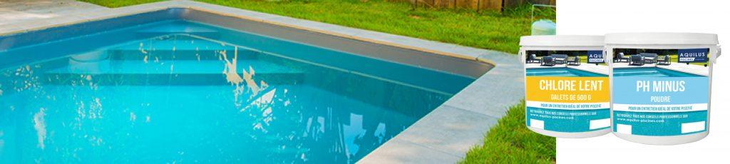 Aquilus propose une large gamme de produits de traitement pour l'eau de votre bassin