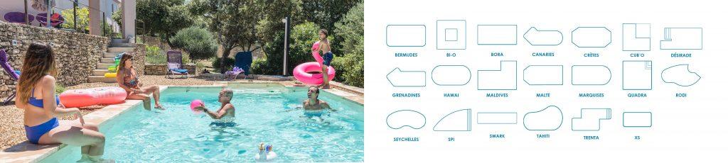 Découvrez tous les modèles de piscines Aquilus, ils sont personnalisables à l'inifini !