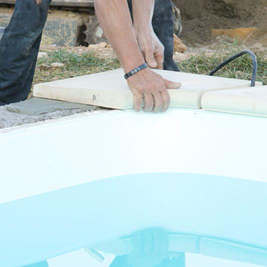chantier piscine : finitions : maargelles